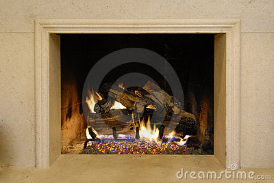 Fireplace and Fire