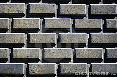 Wall of concrete blocks