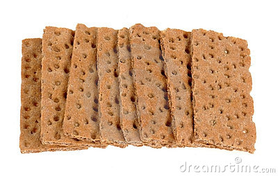 Slabs of crunchy diet bread