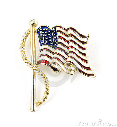 American flag costume jewelry pin
