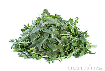 Arugula or rocket leaves