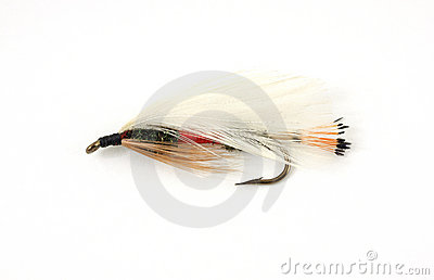 Colorful fly fishing fly