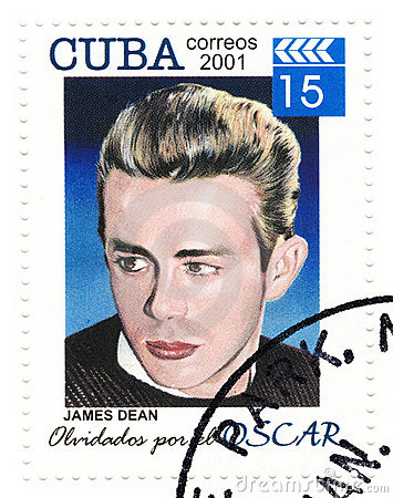 Stamp with James Dean