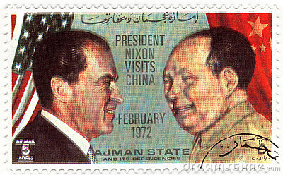 Stamp president of USA Nixon