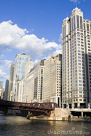 Buildings along Chicago River