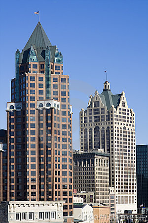 Buildings in downtown Milwaukee