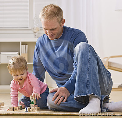 Man Playing with Daughter
