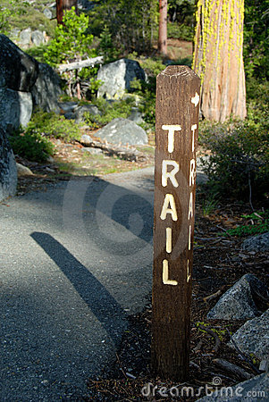 Mountain Trail Sign