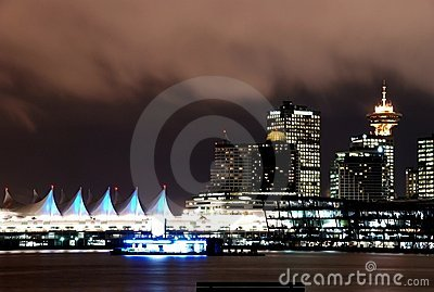 Night scene of downtown Vancouver