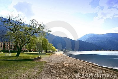View of harrison hot springs