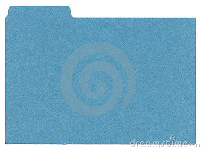 Blue File Isolated