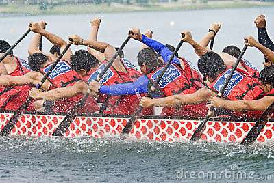 Pacific West Dragon Boat Race Paddlers