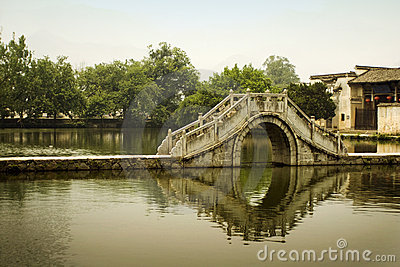Classic china, moon bridge in hongcun