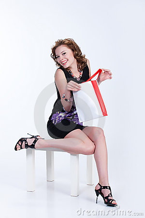 Young Woman With Paper Bag