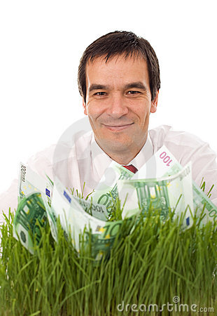 Businessman with a green business plan