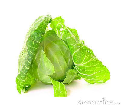Green cabbage isolated