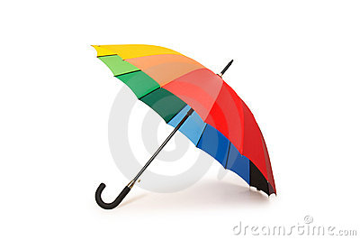 Colourful umbrella isolated
