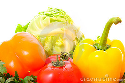 Pepper and few vegetables