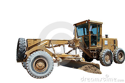 Isolated bulldozer