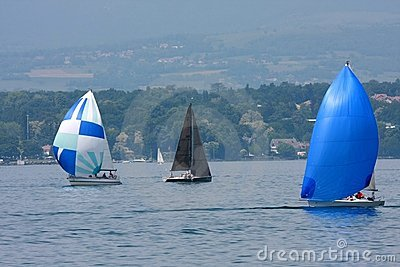 Cruising sailboats