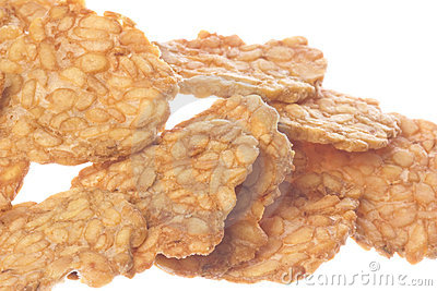 Soybean Tempeh Cracker Isolated