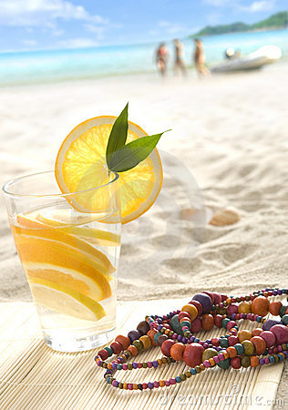 Fresh lemonade on the beach
