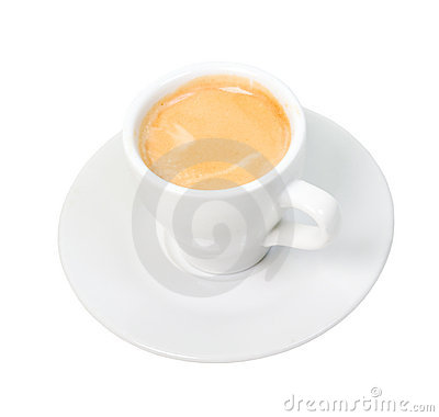 Espresso coffee . Cup of coffee