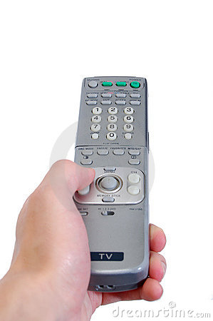 Pointing the TV Remote control