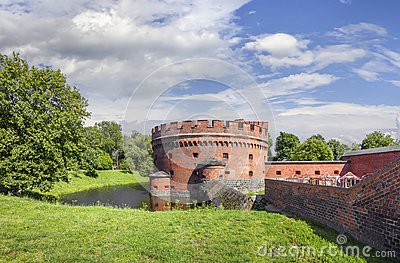 Fortification bastion tower Der Dohna turm. Kaliningrad, Russia
