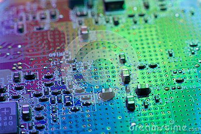 stock image of electronics engineering motherboard digital data