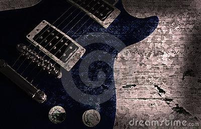 Grunge guitar background
