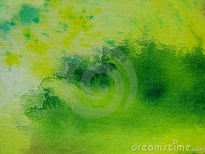 Green with Yellow Watercolors