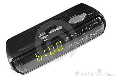 Digital alarm clock radio