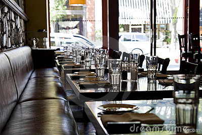 Set Tables In A Restaurant