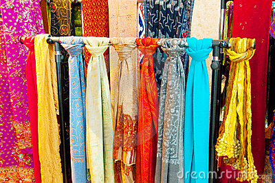 Bright Coloured Scarves