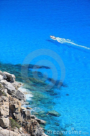 Dinghy into the blue