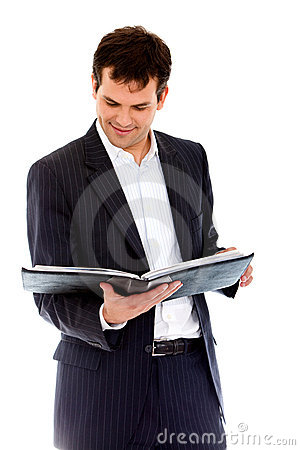 Businessman with portfolio
