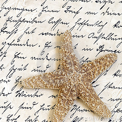 Starfish on old letter