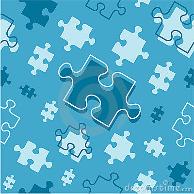 Seamless (repeatable) puzzle pieces pattern
