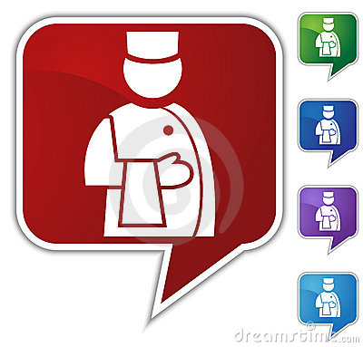 Speech Bubble Set - Waiter