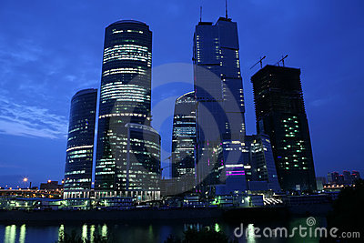 Moscow skyscrapers