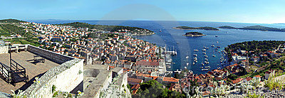 Hvar city panorama