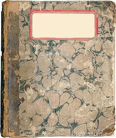 Antique marbled school note book