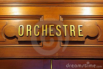 Orchestre signboard