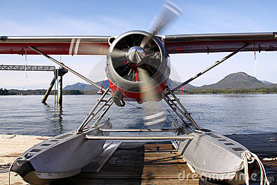 Alaskan Float Plane Warming Up