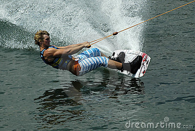 Wakeboarder in action