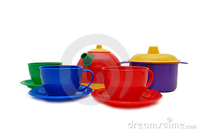 Set of children kitchen ware