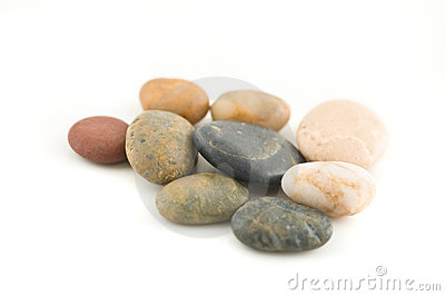 Group of stones on white