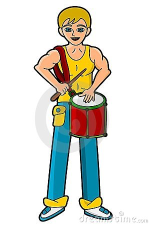 Percussionist playing repinique