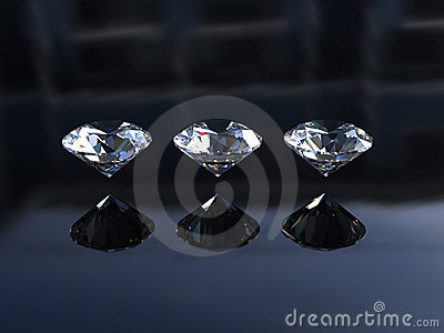 Set of Three Round Diamonds